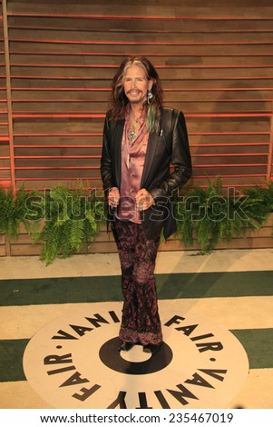 LOS ANGELES - MAR 2:  Steven Tyler at the 2014 Vanity Fair Oscar Party at the Sunset Boulevard on March 2, 2014 in West Hollywood, CA - stock photo