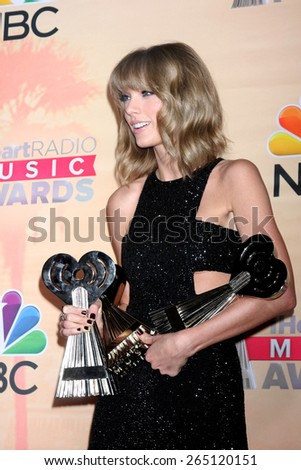 LOS ANGELES - MAR 29:  Taylor Swift at the 2015 iHeartRadio Music Awards Press Room at the Shrine Auditorium on March 29, 2015 in Los Angeles, CA - stock photo