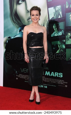 "LOS ANGELES - MAR 12:  Tina Majorino arrives to the """"Veronica Mars"" Los Angeles Premiere  on March 12, 2014 in Hollywood, CA                 - stock photo"