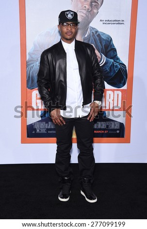 """LOS ANGELES - MAR 25:  Tip """"TI"""" Harris arrives to the """"Get Hard"""" Los Angeles Premiere  on March 25, 2015 in Hollywood, CA                 - stock photo"""