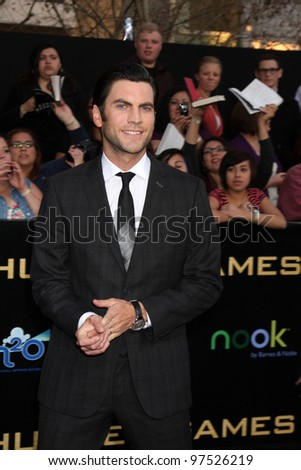 "LOS ANGELES - MAR 12:  Wes Bentley arrives at the ""Hunger Games"" Premiere at the Nokia Theater at LA Live on March 12, 2012 in Los Angeles, CA"
