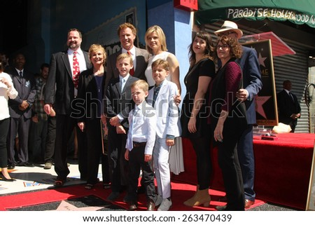 LOS ANGELES - MAR 24:  Will Ferrell and family Will Ferrell Hollywood Walk of Fame Star Ceremony at the Hollywood Boulevard on March 24, 2015 in Los Angeles, CA - stock photo