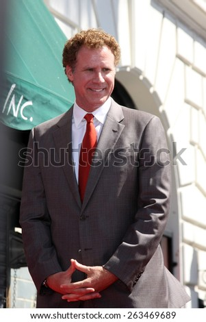 LOS ANGELES - MAR 24:  Will Ferrell at the Will Ferrell Hollywood Walk of Fame Star Ceremony at the Hollywood Boulevard on March 24, 2015 in Los Angeles, CA - stock photo