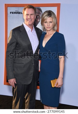 """LOS ANGELES - MAR 25:  Will Ferrell & Viveca Paulin arrives to the """"Get Hard"""" Los Angeles Premiere  on March 25, 2015 in Hollywood, CA                 - stock photo"""