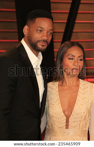 LOS ANGELES - MAR 2:  Will Smith, Jada Pinkett Smith at the 2014 Vanity Fair Oscar Party at the Sunset Boulevard on March 2, 2014 in West Hollywood, CA - stock photo