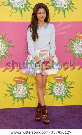 LOS ANGELES - MAR 23 - Zendaya Coleman arrives at the Nickelodeons 2013 Kids Choice Awards on March 23,  2013 in Los Angeles, CA              - stock photo