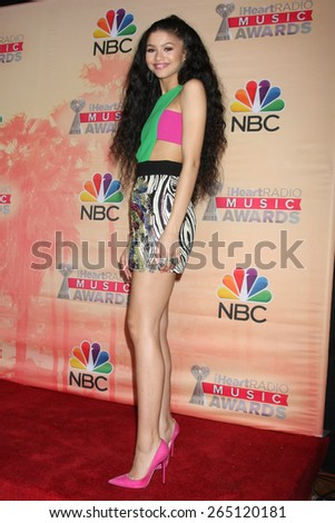 LOS ANGELES - MAR 29:  Zendaya Coleman at the 2015 iHeartRadio Music Awards Press Room at the Shrine Auditorium on March 29, 2015 in Los Angeles, CA - stock photo
