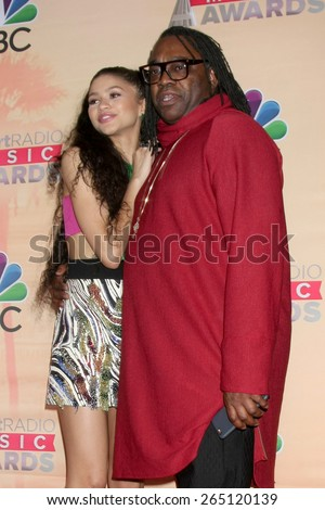 LOS ANGELES - MAR 29:  Zendaya Coleman, Kazembe Ajamu Coleman at the 2015 iHeartRadio Music Awards Press Room at the Shrine Auditorium on March 29, 2015 in Los Angeles, CA - stock photo