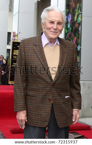 LOS ANGELES -  MARCH 1: Kirk Douglas attends the Hollywood Walk of Fame Star Ceremony honoring Maestro Zubin Mehta on March 1, 2011 in Los Angeles, CA. Mehta's star is on Vine Street, south of Hollywood Blvd.