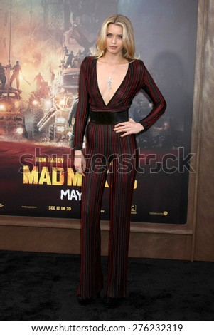 LOS ANGELES - MAY 7:  Abbey Lee at the Mad Max: Fury Road Los Angeles Premiere at the TCL Chinese Theater IMAX on May 7, 2015 in Los Angeles, CA - stock photo