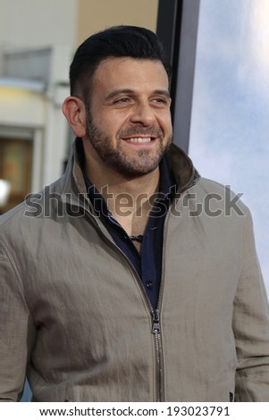 "LOS ANGELES - MAY 15:  Adam Richman at the ""A Million Ways To Die In The West"" World Premiere at Village Theater on May 15, 2014 in Westwood, CA"