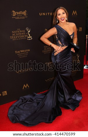 LOS ANGELES - MAY 1:  Adrienne Bailon at the 43rd Daytime Emmy Awards at the Westin Bonaventure Hotel  on May 1, 2016 in Los Angeles, CA - stock photo