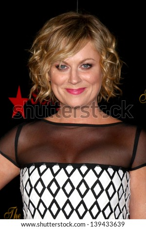 LOS ANGELES - MAY 21:  Amy Poehler arrives at the 38th Annual Gracie Awards Gala at the Beverly Hilton Hotel on May 21, 2013 in Beverly Hills, CA - stock photo
