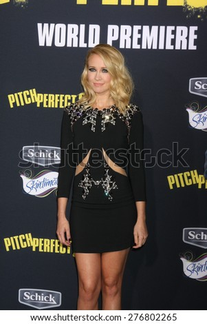 """LOS ANGELES - MAY 9:  Anna Camp at the """"Pitch Perfect 2"""" World Premiere at the Nokia Theater on May 9, 2015 in Los Angeles, CA - stock photo"""
