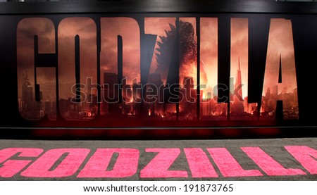 "LOS ANGELES - MAY 8:  Atmosphere at the ""Godzilla"" Premiere at Dolby Theater on May 8, 2014 in Los Angeles, CA - stock photo"