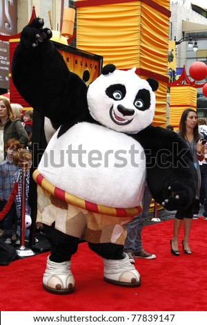 LOS ANGELES - MAY 22:  Atmosphere - Panda at the premiere of Kung Fu Panda 2 at the Grauman's Chinese Theater in Los Angeles, California on May 22, 2011. - stock photo