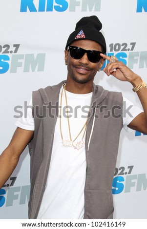 "LOS ANGELES - MAY 12:  Big Sean. arrives at the ""Wango Tango"" Concert at The Home Depot Center on May 12, 2012 in Carson, CA"