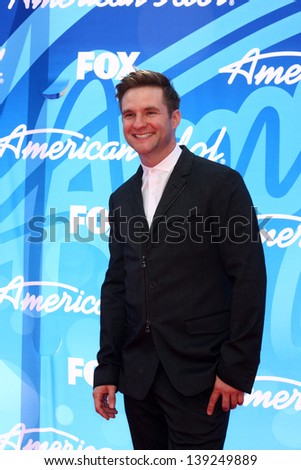 LOS ANGELES - MAY 16:  Blake Lewis arrives at the American Idol Season 12 Finale at the Nokia Theater at LA Live on May 16, 2013 in Los Angeles, CA - stock photo