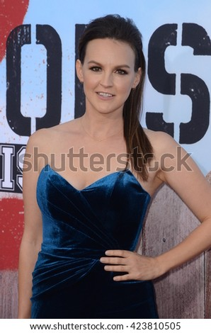 LOS ANGELES - MAY 20:  Carla Gallo at the Neighbors 2: Sorority Rising American Premiere at Village Theater on May 20, 2016 in Westwood, CA - stock photo