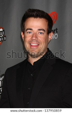 "LOS ANGELES - MAY 8:  Carson Daly arrives at ""The Voice"" Season 4 Top 12 Event at the House of Blues on May 8, 2013 in West Hollywood, CA"
