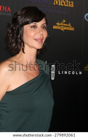 LOS ANGELES - MAY 19:  Catherine Bell at the 40th Anniversary Gracies Awards at the Beverly Hilton Hotel on May 19, 2015 in Beverly Hills, CA - stock photo