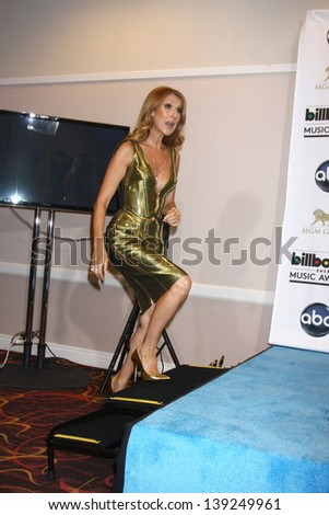LOS ANGELES -  MAY 19:  Celine Dion in the press room at the Billboard Music Awards 2013 at the MGM Grand Garden Arena on May 19, 2013 in Las Vegas, NV - stock photo