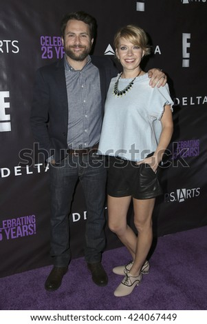 LOS ANGELES - MAY 20:  Charlie Day, Mary Elizabeth Ellis at the PS Arts - The Party at NeueHouse Hollywood on May 20, 2016 in Los Angeles, CA