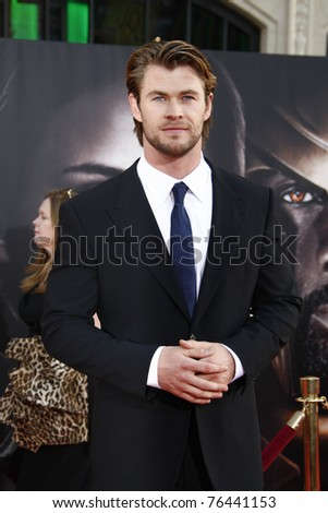 LOS ANGELES - MAY 2:  Chris Hemsworth at the premiere of Thor at the El Capitan Theater, Los Angeles, California on May 2, 2011.
