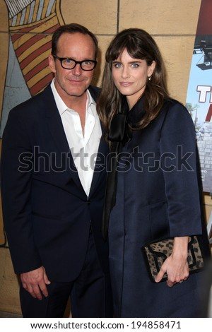 "LOS ANGELES - MAY 22:  Clark Gregg, Amanda Peet at the ""Trust Me"" Special Screening at Egyptian Theater on May 22, 2014 in Los Angeles, CA"