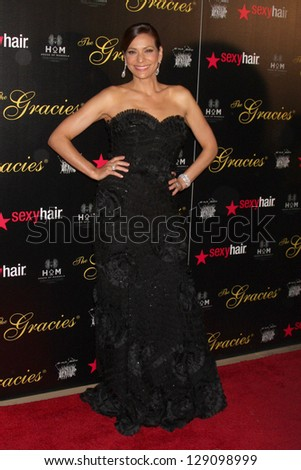 LOS ANGELES - MAY 22:  Constance Marie at the 37th Annual Gracie Awards Gala at Beverly Hilton Hotel on May 22, 2012 in Beverly Hills, CA. - stock photo