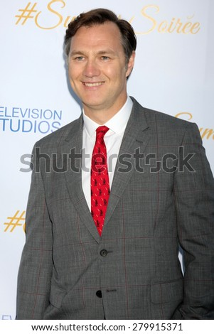 LOS ANGELES - MAY 18:  David Morrissey at the CBS Summer Soiree 2015 at the London Hotel on May 18, 2015 in West Hollywood, CA - stock photo