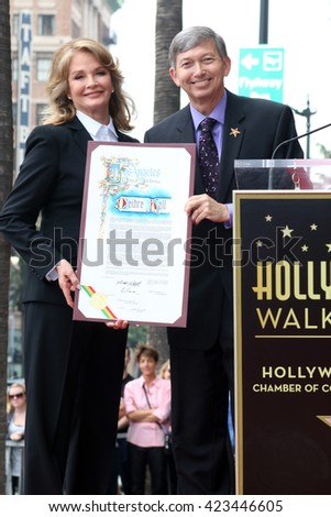 LOS ANGELES - MAY 19:  Deidre Hall, Leron Gubler at the Deidre Hall Hollywood Walk of Fame Ceremony at Hollywood Blvd. on May 19, 2016 in Los Angeles, CA - stock photo