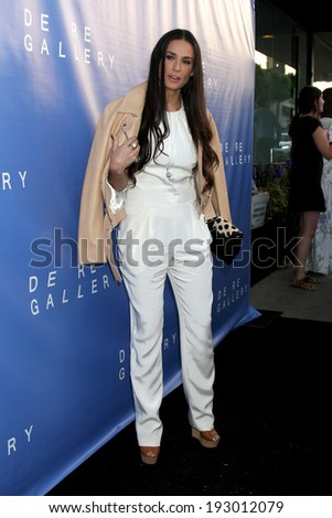 LOS ANGELES - MAY 15:  Demi Moore at the De Re Gallery Opening at De Re Gallery on May 15, 2014 in West Hollywood, CA - stock photo