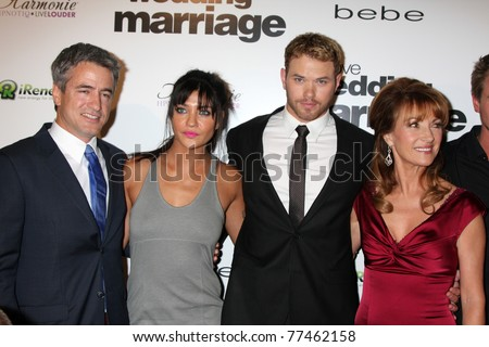 "LOS ANGELES - MAY 17:  Dermot Mulroney, Jessica Szohr, Kellan Lutz, Jane Seymour arriving at the ""Love, Wedding, Marriage"" LA Premiere at Silver Screen Theater on May 17, 2011 in Los Angeles, CA"