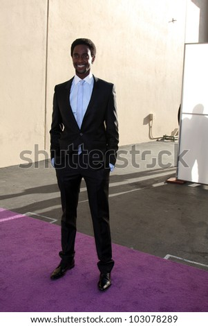 LOS ANGELES - MAY 20:  Edi Gathegi. arrives at the ABC / Disney International Upfronts at Walt Disney Studios Lot on May 20, 2012 in Burbank, CA
