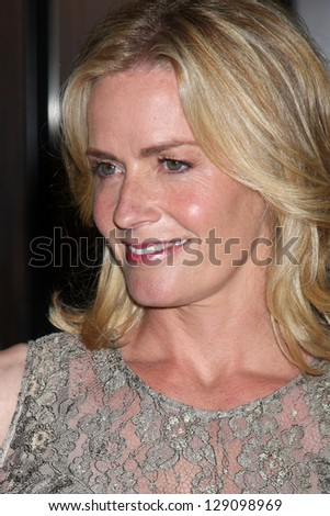 LOS ANGELES - MAY 22:  Elisabeth Shue arrives at the 37th Annual Gracie Awards Gala at Beverly Hilton Hotel on May 22, 2012 in Beverly Hills, CA - stock photo
