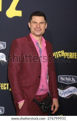 "LOS ANGELES - MAY 9:  Flula Borg at the ""Pitch Perfect 2"" World Premiere at the Nokia Theater on May 9, 2015 in Los Angeles, CA - stock photo"