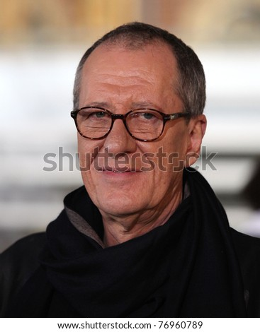 "LOS ANGELES - MAY 07:  Geoffrey Rush arrives to the ""Pirates of the Caribbean: On Stranger Tides"" World Premiere  on May 7, 2011 in Anaheim, CA"