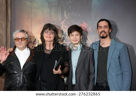 LOS ANGELES - MAY 7:  George Miller, family at the Mad Max: Fury Road Los Angeles Premiere at the TCL Chinese Theater IMAX on May 7, 2015 in Los Angeles, CA - stock photo
