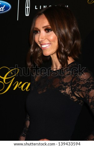 LOS ANGELES - MAY 21:  Giuliana Rancic arrives at the 38th Annual Gracie Awards Gala at the Beverly Hilton Hotel on May 21, 2013 in Beverly Hills, CA