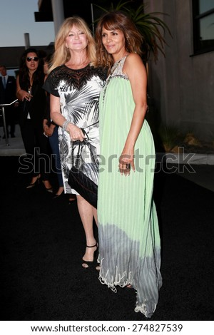 LOS ANGELES - MAY 2:  Goldie Hawn, Halle Berry at the 3rd Annual Mattel Children's Hospital Kaleidoscope Ball at the 3Labs on May 2, 2015 in Culver City, CA - stock photo