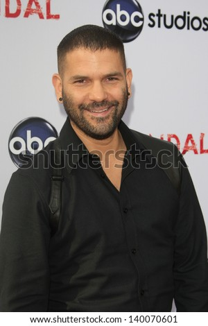 "LOS ANGELES - MAY 16:  Guillermo Diaz arrives at ""An Evening with 'Scandal' at the Leonard H. Goldenson Theater on May 16, 2013 in No. Hollywood, CA"