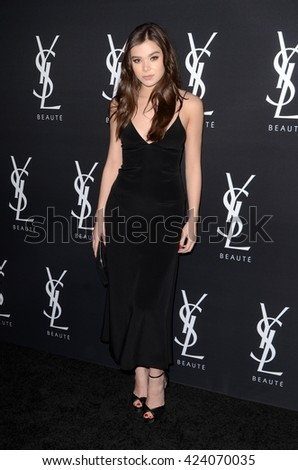 LOS ANGELES - MAY 19:  Hailee Steinfeld at the Zoe Kravitz Celebrates Her New Role With Yves Saint Laurent Beauty at Gibson Brands Sunset on May 19, 2016 in West Hollywood, CA - stock photo