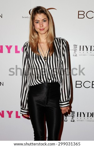 LOS ANGELES - MAY 7:  Hannah Kat Jones at the NYLON Magazine Young Hollywood Issue Party  at the HYDE Sunset on May 7, 2015 in West Hollywood, CA - stock photo