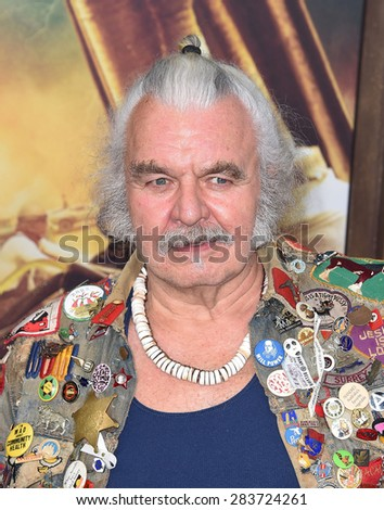 """LOS ANGELES - MAY 07:  Hugh Keays-Byrne arrives to the """"Mad Max: Fury Road"""" Los Angeles Premiere  on May 7, 2015 in Hollywood, CA                 - stock photo"""