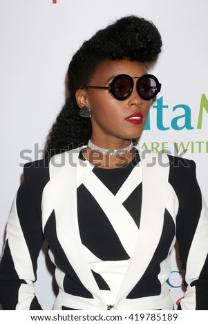LOS ANGELES - MAY 12:  Janelle Monae at the Power Up Gala at the Beverly Wilshire Hotel on May 12, 2016 in Beverly Hills, CA - stock photo