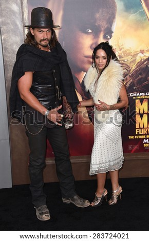 "LOS ANGELES - MAY 07:  Jason Momoa & Lisa Bonet arrives to the ""Mad Max: Fury Road"" Los Angeles Premiere  on May 7, 2015 in Hollywood, CA"