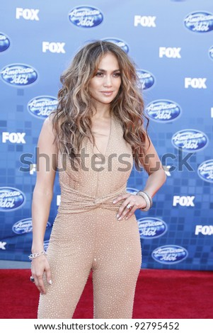 LOS ANGELES - MAY 25: Jennifer Lopez at the American Idol Finale at the Nokia Theater in Los Angeles, California on May 25, 2011. - stock photo