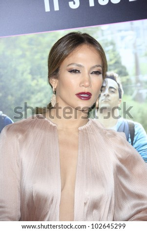 LOS ANGELES - MAY 14: Jennifer Lopez at the premiere of 'What To Expect When You're Expecting' held at Grauman's Chinese Theater on May 14, 2012  in Los Angeles, California - stock photo