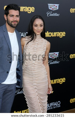 "LOS ANGELES - MAY 27:  Jesse Bradford, Cara Santana at the ""Entourage"" Movie Premiere at the Village Theater on May 27, 2015 in Westwood, CA"
